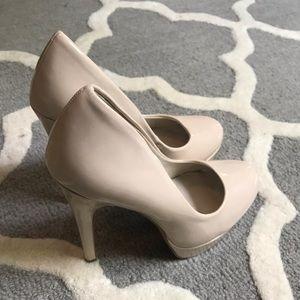 ALDO Nude Platform Heels
